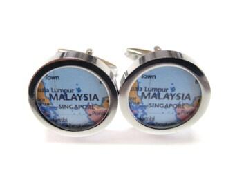 Malaysia Map Pendant Cufflinks