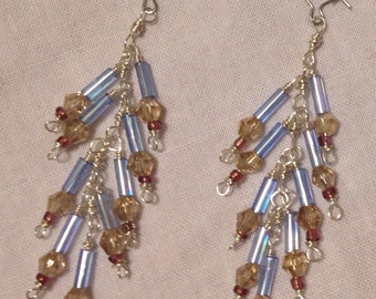Falling Branches Dangle Earrings - Ice Capades