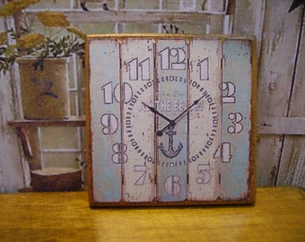 At the Beach Miniature Wall Clock 1:12 scale