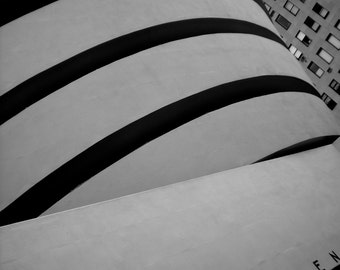 Guggenheim Museum photograph, Architectural photography, Black and White, 8x10, New York, Building, Fine Art, Wall Art