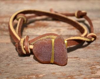 Knotted Leather Bracelet Cuff Boho Festival Jewelry SALE