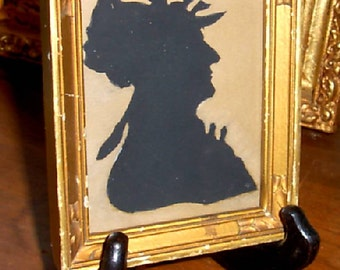 Silhouette of Woman in Art Frame