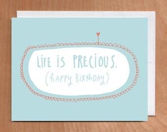 LIFE is PRECIOUS Card, 2-4C