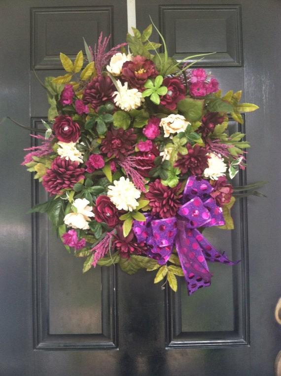 Elegant Luxury Large Grapevine Door Wreath Traditional Fall