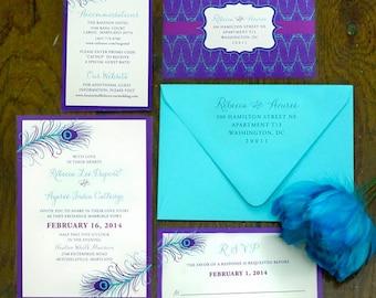 peacock wedding invitations  etsy, invitation samples