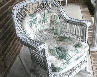 Vintage Wicker Rocking Chair Vintage Rocker Vintage
