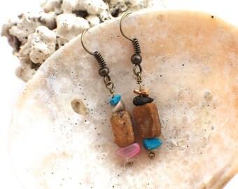 Colorful Stone Earrings