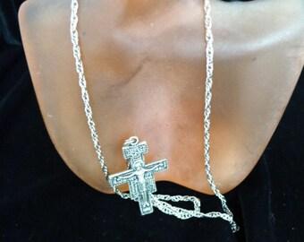 Vintage Master Prayer Cross Necklace