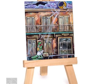 New Orleans Alligator Art Featuring Cajun Playing Jazz Music At Preservation Hall Archival Print -Nola/ Decor Gift/Poster Print Size