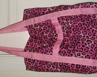 Cat Tote Bag Pink & Black Animal Print