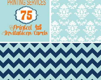 Printing Services for 75, 4X5 size invitation including envelopes