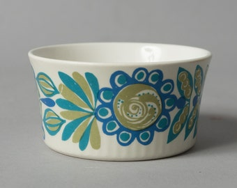 vintage bowl figgjo flint norway blue green turi design retro collectible mid century scandinavian
