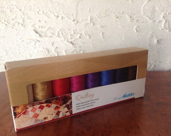 Thread for Machine Quilting by Mettler 100% Mercerized Cotton package of 8 spools (164 yds/spool)