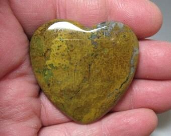 Jasper Flat Heart, 45 mm - Item 54633