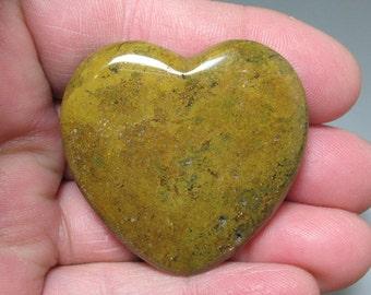 Jasper Flat Heart, 45 mm - Item 55090