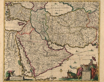 1666 Middle East -Map Print