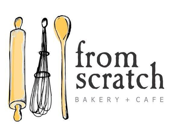 Items Similar To Premade Logo Kitchen Baking Logo Bakery Cake Logo Cooking Food Logo Wooden