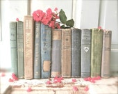 """Book Photography, Shabby Cottage Chic Decor, Old Antique Book Print, Rustic Cottage Photography, Library Office Decor- """"Cottage Library"""""""