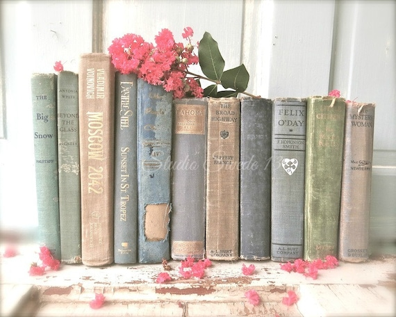Book photography shabby cottage chic decor old antique book for Antique books for decoration