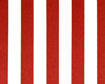 Red stripe Fabric by the Yard Canopy lipstick White American flag stripes Premier Prints home decor fabrics - 1 yard or more - SHIPS FAST