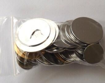 Metal Samping Blanks Practice Discs Assortment of Sizes & Shapes Grab Bag