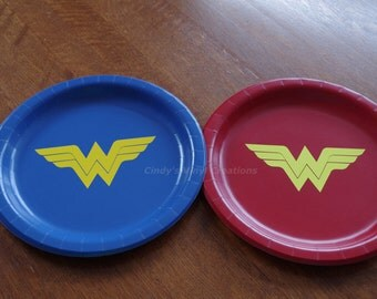 Wonder Woman Inspired Birthday Party Plates perfect for Birthday Parties or Celebrations of All Ages!