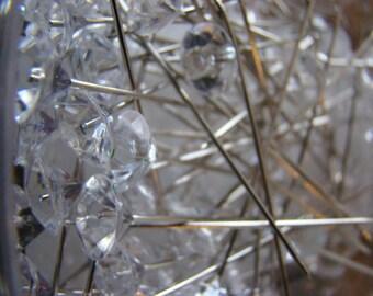 Diamond Tip Pins, Gem Pins, Corsage Pins, 2'' pins, Diamante Pins
