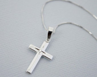 Cross Necklace, Sterling Silver Cross Necklace
