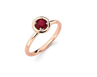 14K Rose Gold Ruby Ring, Rose Gold Ring, Promise Ring, Fancy Ring, Ruby Ring, Ruby