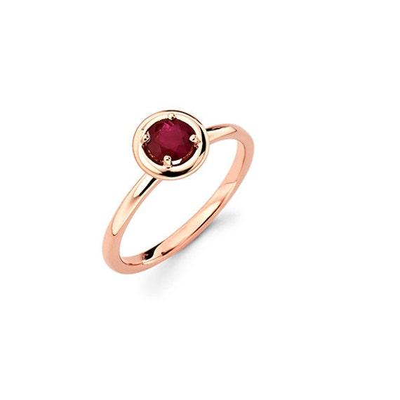 14k gold ruby ring gold ring promise ring fancy