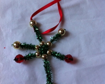 Wire and Beaded Ornament