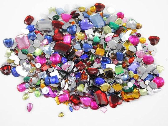 bulk gems rhinestones jewels 1000 pieces assorted