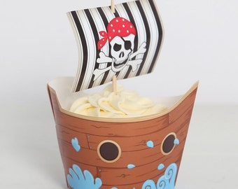 Pirate Ship Cupcake Wrappers