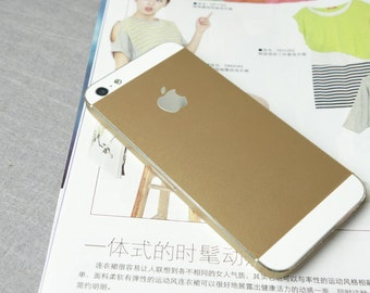Gold Apple iPhone Decal iPhone 4s Sticker Avery iPhone 5 Back cover decal sticker Skin