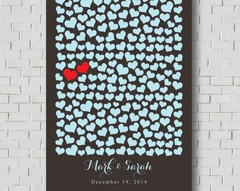 Wedding Guest Book Print - Personalized Wedding Gift - Sweetheart Bridal Gift - Wedding Poster - Chalkboard Sign Poster - Wedding Sign Print