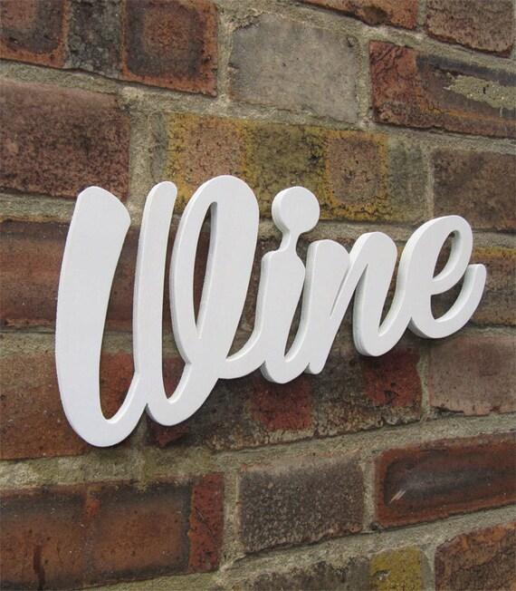 Wine handmade kitchen decor wood wall hanging modern sign for Handmade kitchen decoration