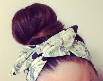 Money Dolly Bow Headband