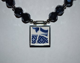 Mosaic pendant on a  necklace