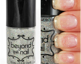 Scattered Holographic Top Coat Nail Polish