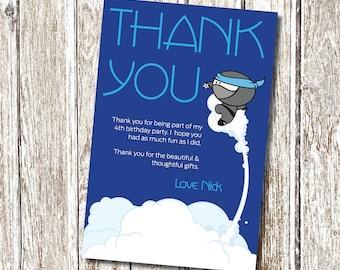 Ninja- Thank you card- Printable and Personalised