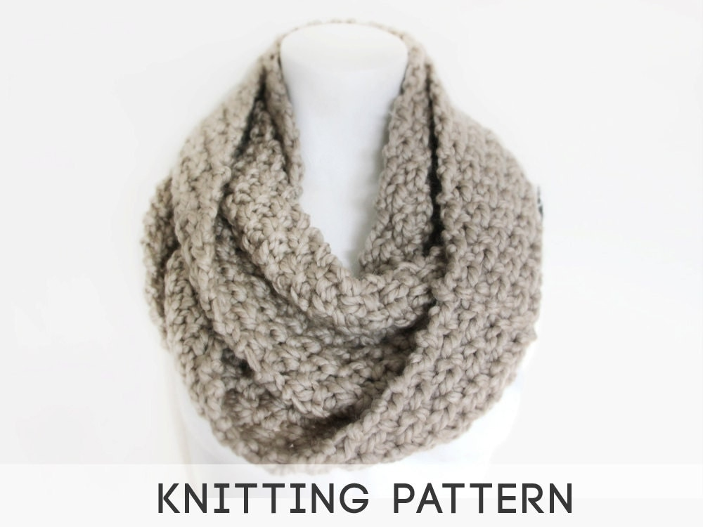 Knitting Pattern For Chunky Infinity Scarf : Unavailable Listing on Etsy