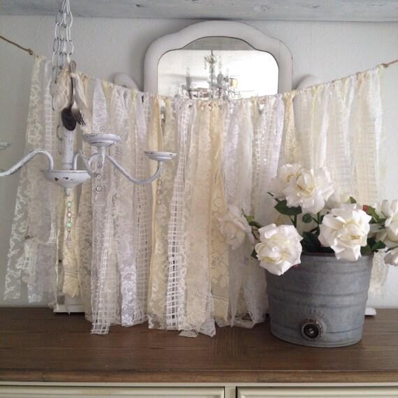 Vintage Wedding Ideas Diy: Lace Wedding Garland Shabby Chic Decor DIY By