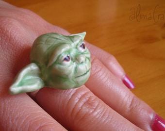 Polymer clay Ring Yoda Star Wars