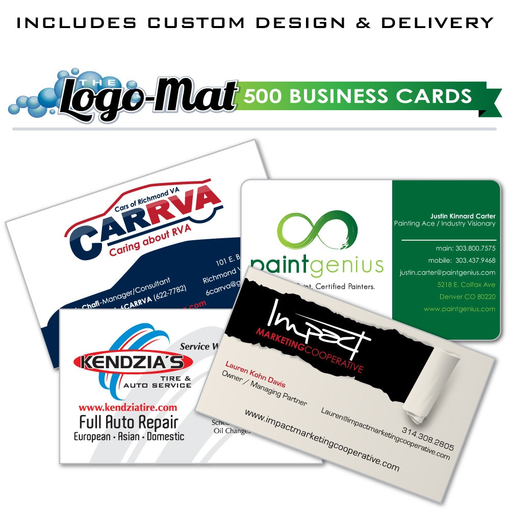 500 custom business cards custom business cards business for Custome business cards