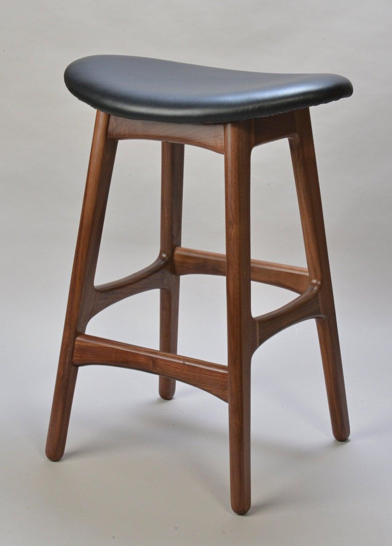 Mid century danish modern bar stool by studioaxis on etsy