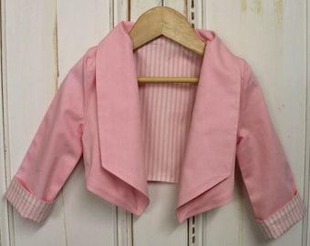 Pink Crop Jacket - Size 4