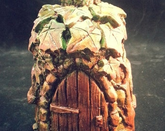Faerie House for use with incense cones....Fairy Home...Cottage for Fairies