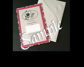 Damask Damsel Triple-Layered Wedding Invitation/RSVP Card Set | Deposit