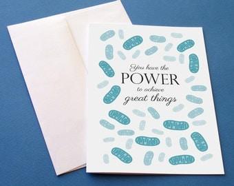 Mitochondria greeting card