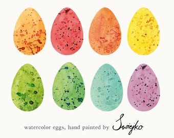 Easter Clip Art, Watercolor Eggs, Easter Egg